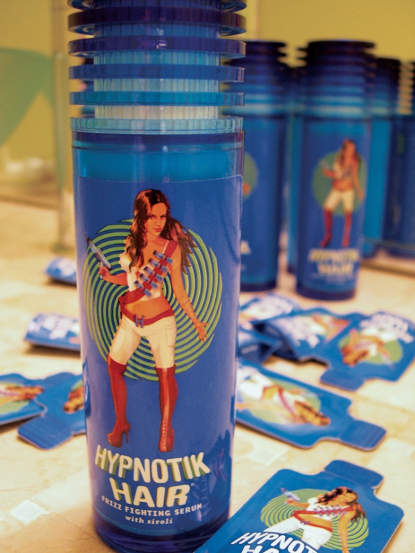 Hypnotik Hair serum. Packaging and sample packs by Saturday, Charlotte, NC